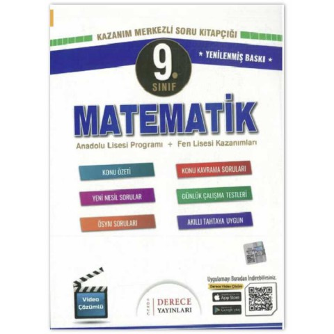 Derece Yayınları 9. Sınıf Matematik Modüler Set