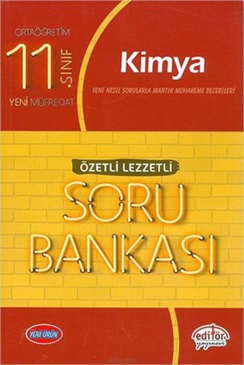 Editör Yayınları 11. Sınıf Kimya Özetli Lezzetli Soru Bankası