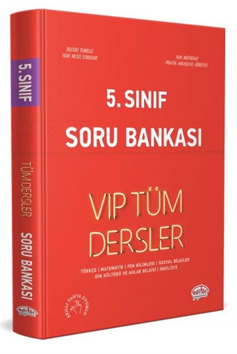 Editör Yayınları 5. Sınıf VIP Tüm Dersler Soru Bankası Kırmızı Kitap