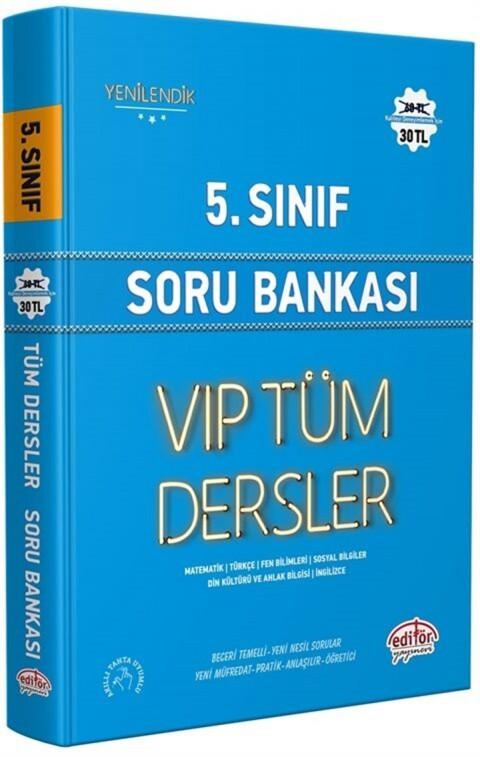 Editör Yayınları 5. Sınıf VİP Tüm Dersler Soru Bankası