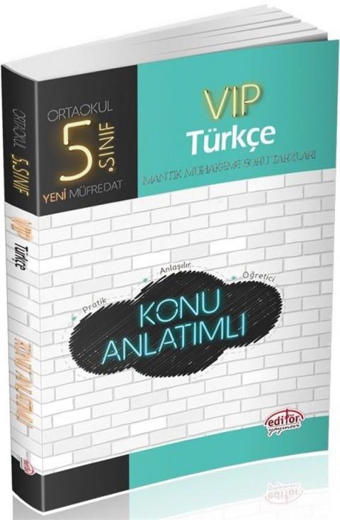 Editör Yayınları 5. Sınıf Vip Türkçe Konu Anlatımlı