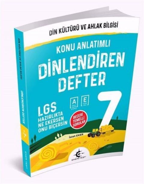 Eker Test Yayınları 7. Sınıf Din Kültürü ve Ahlak Bilgisi Dinlendiren Defter