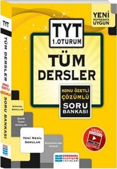 Evrensel İletişim Yayınları TYT 1. Oturum Tüm Dersler Konu Özetli Çözümlü Soru Bankası