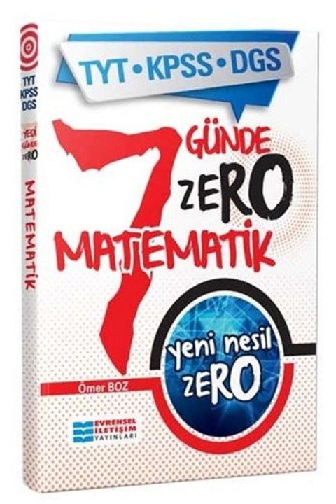 Evrensel İletişim Yayınları TYT KPSS DGS Yeni Nesil ZERO Matematik