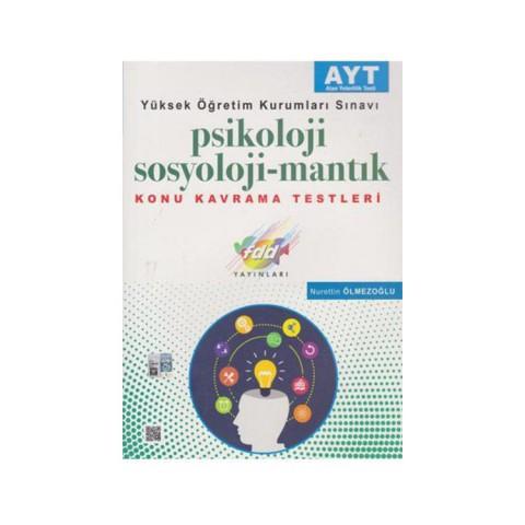 FDD Yayınları YKS AYT Psikoloji-Sosyoloji-Mantık Konu Kavrama Testleri