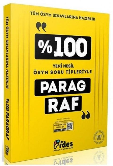 Fides Yayınları Tüm ÖSYM Sınavlarına Hazırlık %100 Paragraf Soru Bankası