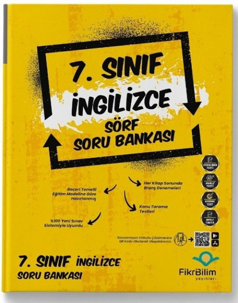 FikriBilim Yayınları 7. Sınıf İngilizce Sörf Soru Bankası