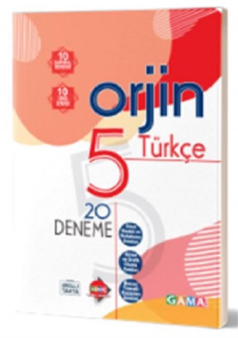 Gama Yayınları 5. Sınıf Orjin Türkçe Deneme