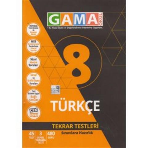 Gama Yayınları 8. Sınıf Türkçe Tekrar Testleri