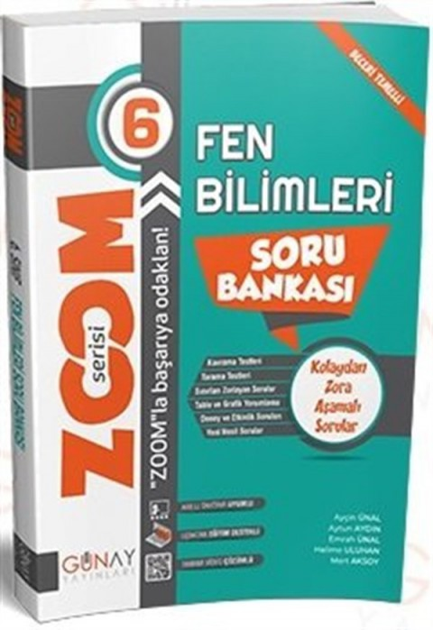 Günay Yayınları 6. Sınıf Fen Bilimleri Zoom Soru Bankası