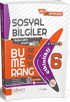 Günay Yayınları 6. Sınıf Sosyal Bilgiler Bumerang Soru Bankası