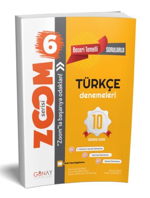 Günay Yayınları 6. Sınıf Türkçe Zoom 10 Deneme