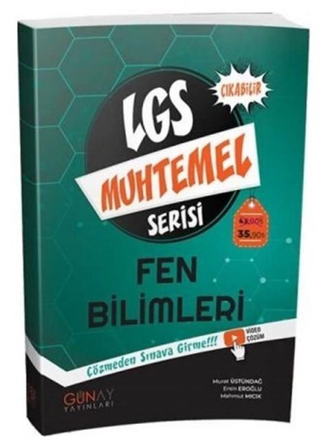 Günay Yayınları 8. Sınıf LGS Fen Bilimleri Muhtemel Soru Bankası Video Çözümlü