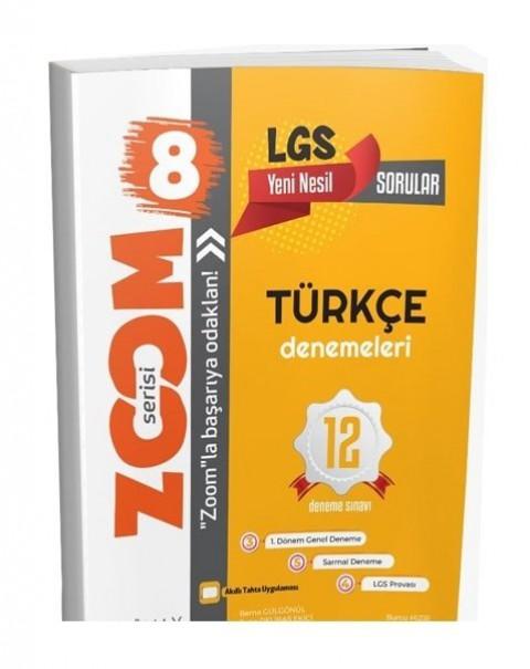 Günay Yayınları 8. Sınıf LGS Türkçe Zoom 12 Deneme
