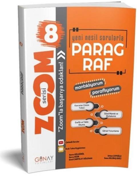 Günay Yayınları 8. Sınıf Zoom Serisi Yeni Nesil Paragraf