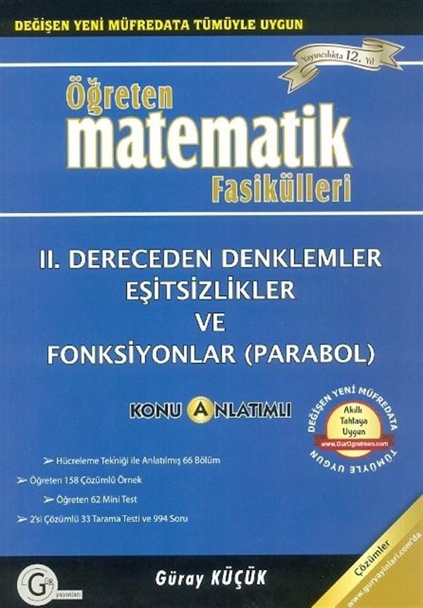 Gür Yayınları 2. Dereceden Denklemler Eşitsizlikler ve Fonksiyonlar (Parabol)