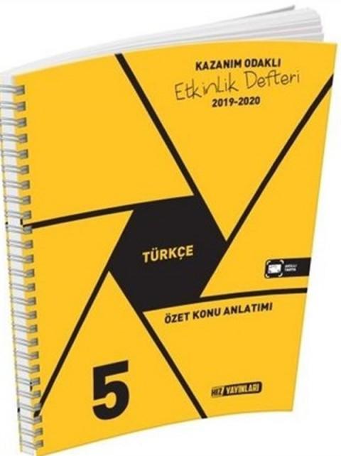 Hız Yayınları 5. Sınıf Türkçe Etkinlik Defteri
