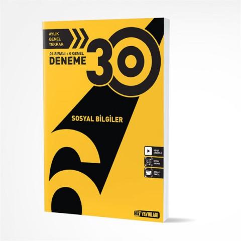 Hız Yayınları 6. Sınıf Sosyal Bilgiler 30 Deneme Hız Yayınları