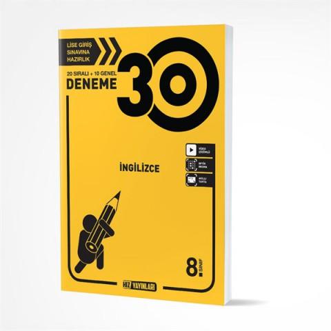 Hız Yayınları 8. Sınıf İngilizce 30 Deneme