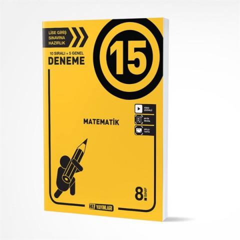 Hız Yayınları 8. Sınıf LGS Matematik 15 Deneme