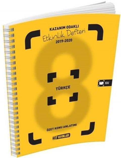 Hız Yayınları 8. Sınıf Türkçe Etkinlik Defteri