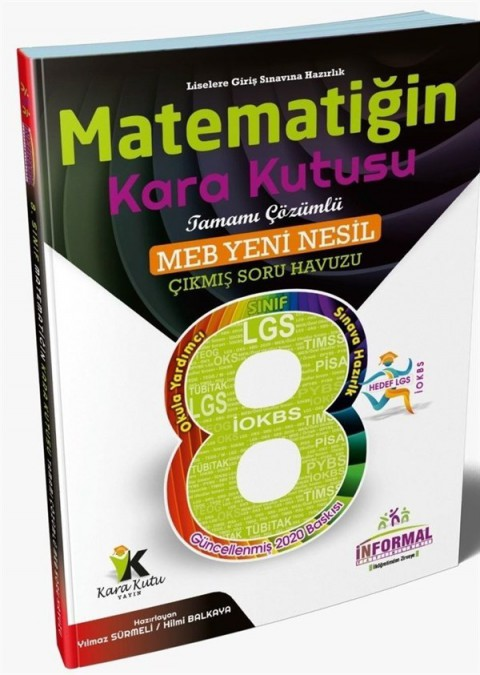 İnformal Yayınları 8. Sınıf LGS Matematiğin Kara Kutusu Tamamı Çözümlü Soru Bankası