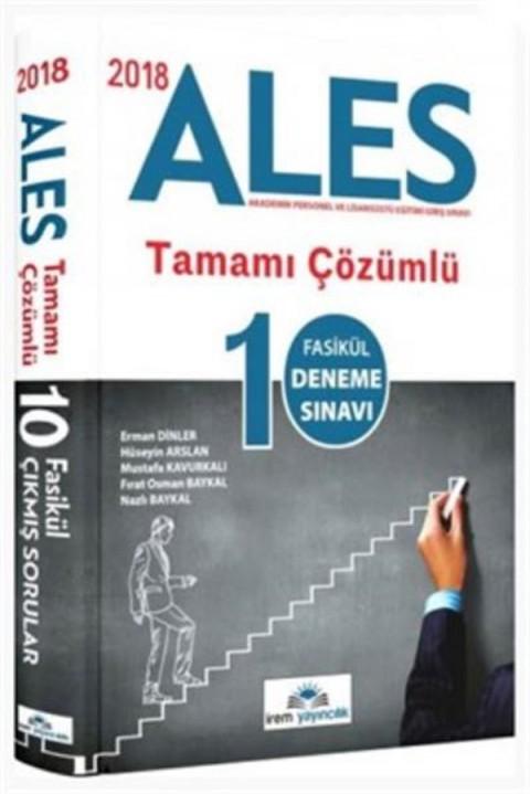 İrem Yayınları 2019 ALES 10 Fasikül Deneme Çözümlü