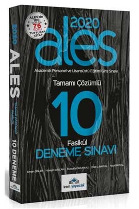 İrem Yayınları 2020 ALES 10 Fasikül Deneme Çözümlü