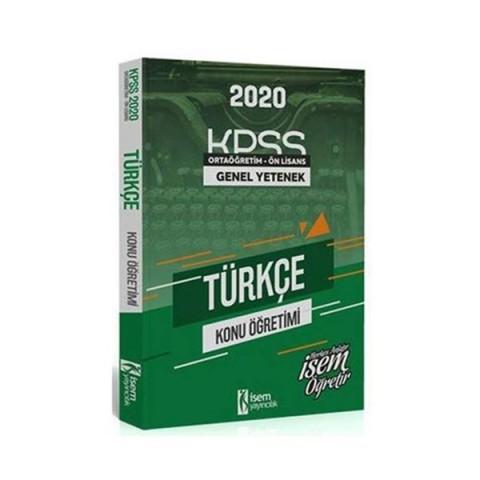 İsem Yayıncılık 2020 KPSS Ortaöğretim Ön Lisans Türkçe Konu Öğretimi