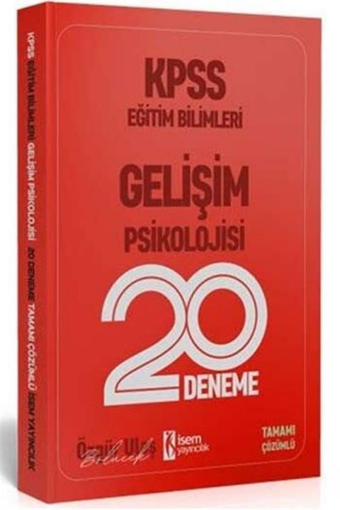 İsem Yayınları 2020 KPSS Eğitim Bilimleri Gelişim Psikolojisi Tamamı Çözümlü 20 Deneme