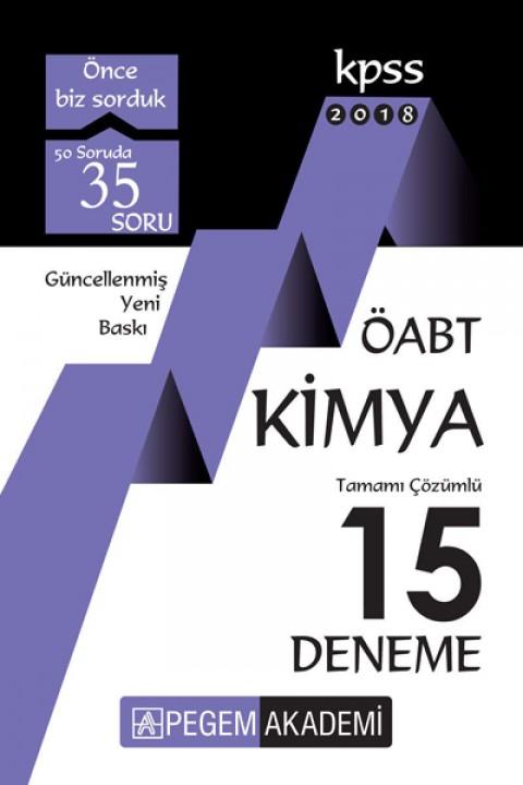 KPSS ÖABT Kimya Tamamı Çözümlü 15 Deneme 2018