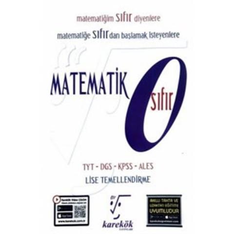 Karekök Yayınları Matematik Sıfır