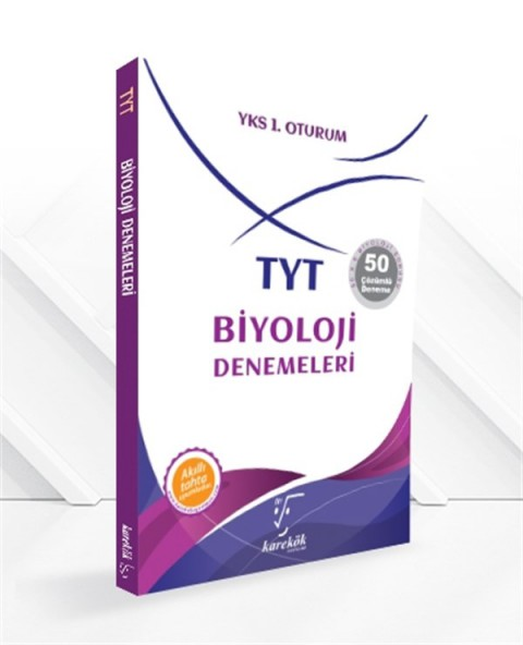 Karekök Yayınları YKS TYT Biyoloji 50 Deneme Çözümlü