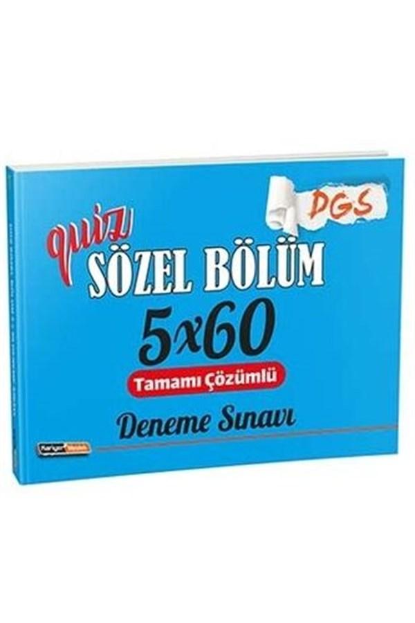 Kariyer Meslek Yayınları DGS Quiz Sözel Bölüm Tamamı Çözümlü 5×60 Deneme Sınavı