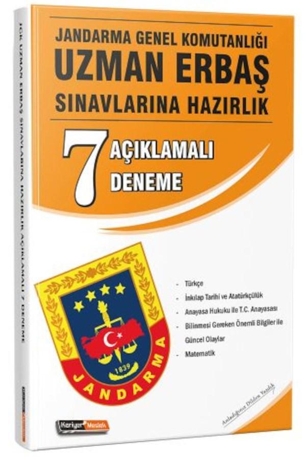 Kariyer Meslek Yayınları Jandarma Genel Komutanlığı Uzman Erbaş Sınavlarına Açıklamalı 7 Deneme Sınavı
