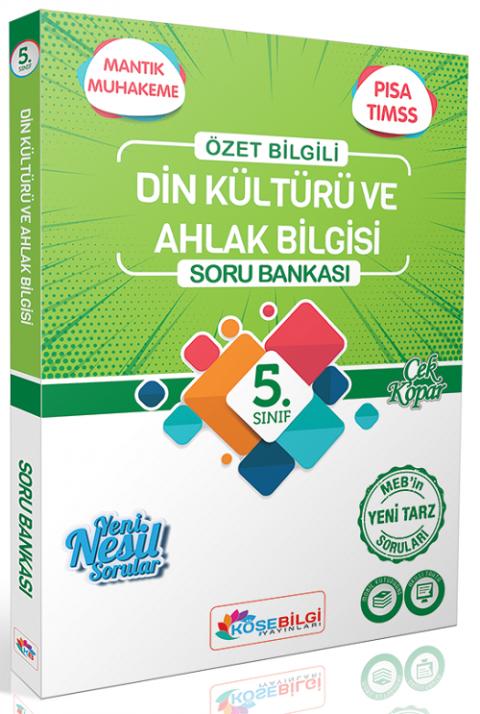 Köşebilgi Yayınları 5. Sınıf Din Kültürü ve Ahlak Bilgisi Soru Bankası