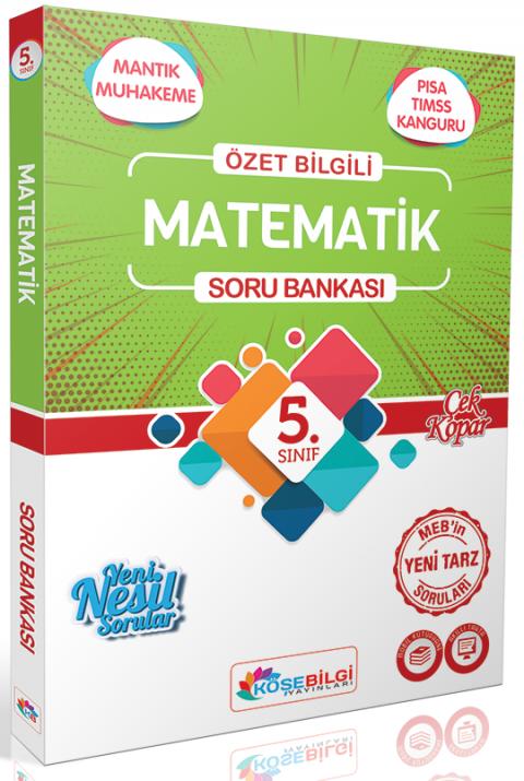 Köşebilgi Yayınları 5. Sınıf Matematik Soru Bankası