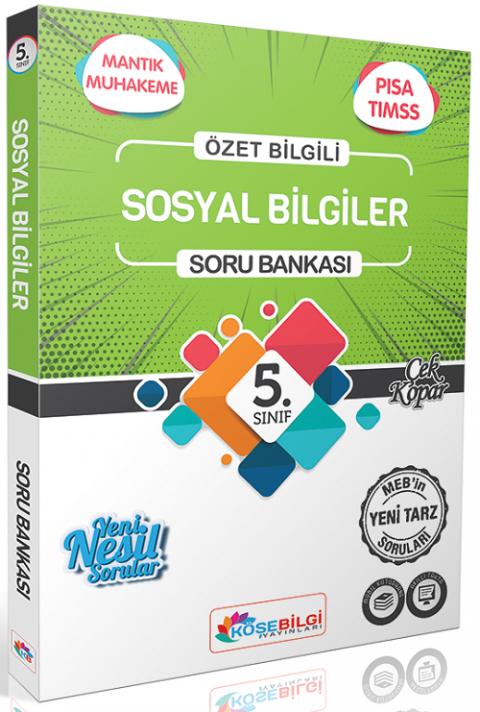 Köşebilgi Yayınları 5. Sınıf Sosyal Bilgiler Soru Bankası