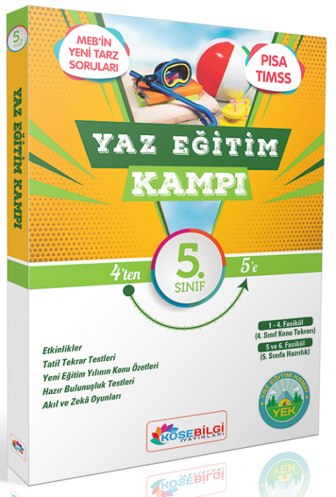 Köşebilgi Yayınları 5. Sınıf Yaz Eğitim Kampı Tatil Kitabı