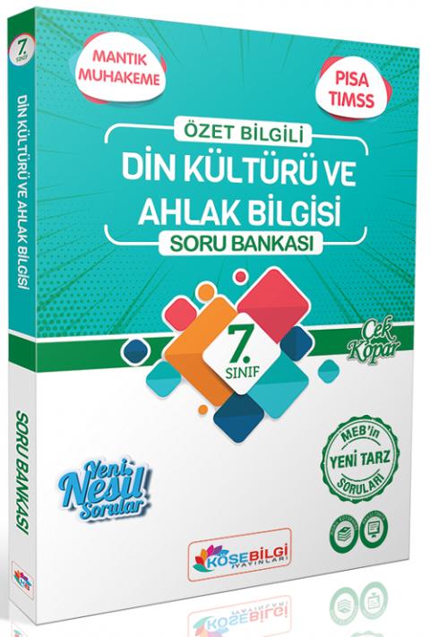 Köşebilgi Yayınları 7. Sınıf Din Kültürü ve Ahlak Bilgisi Soru Bankası