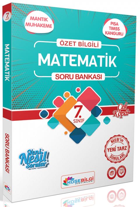Köşebilgi Yayınları 7. Sınıf Matematik Soru Bankası