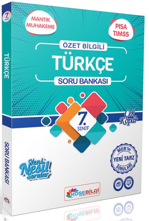 Köşebilgi Yayınları 7. Sınıf Türkçe Soru Bankası
