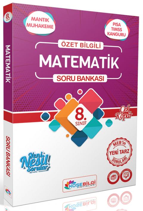 Köşebilgi Yayınları 8. Sınıf Matematik Soru Bankası