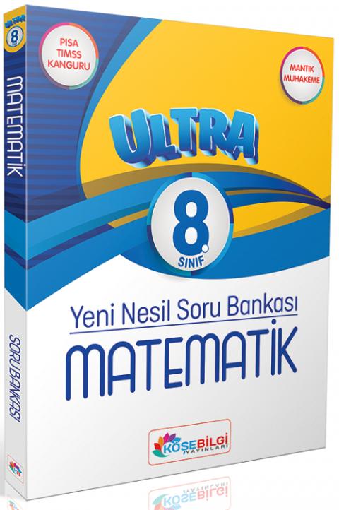 Köşebilgi Yayınları 8. Sınıf Matematik Ultra Çözümsüz Soru Bankası