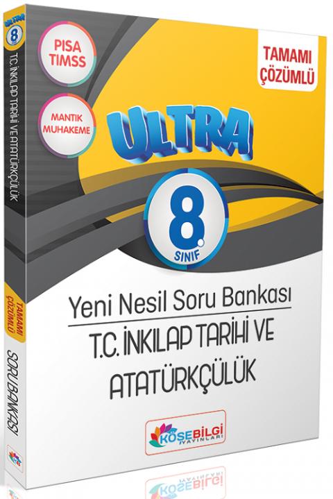 Köşebilgi Yayınları 8. Sınıf TC İnkilap Tarihi ve Atatürkçülük Ultra Çözümlü Soru Bankası