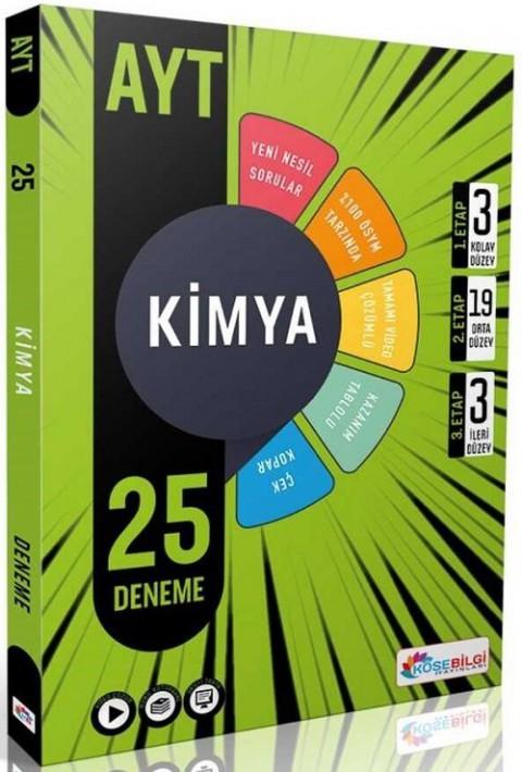 Köşebilgi Yayınları YKS AYT Kimya 25 Deneme Video Çözümlü
