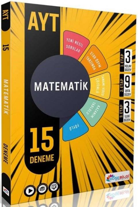 Köşebilgi Yayınları YKS AYT Matematik 15 Deneme Video Çözümlü