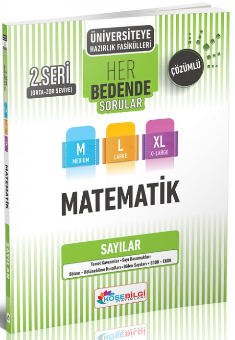 Köşebilgi Yayınları YKS TYT AYT Matematik Sayılar Her Bedende Soru Bankası 2. Seri