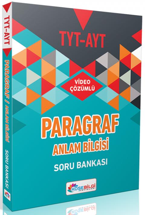 Köşebilgi Yayınları YKS TYT AYT Paragraf Anlam Bilgisi Soru Bankası