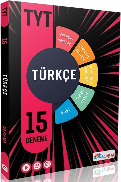Köşebilgi Yayınları YKS TYT Türkçe 15 Deneme Video Çözümlü
